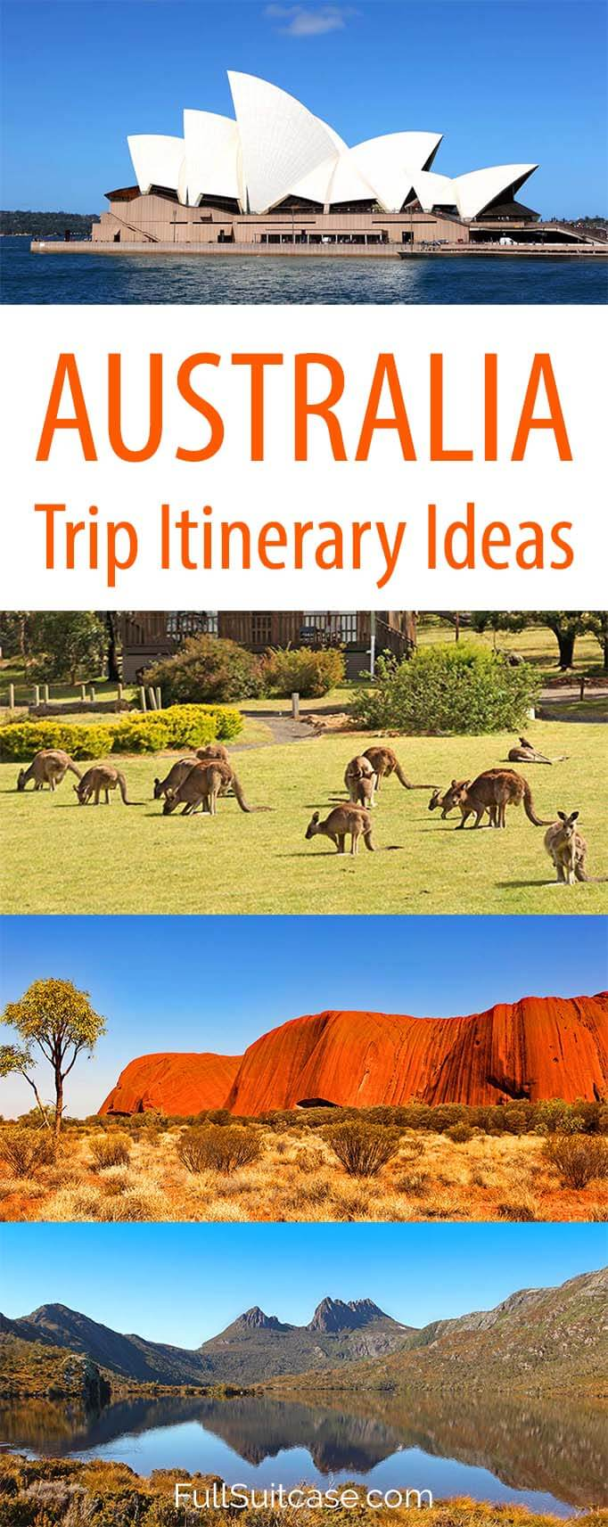 Australia trip itinerary ideas