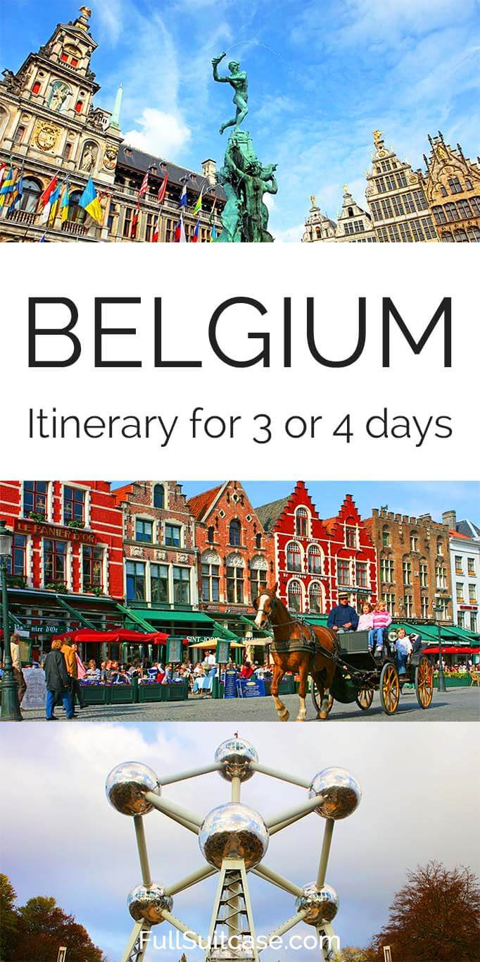 Best Belgium itinerary for 3 or 4 days - tips by a local #Belgium