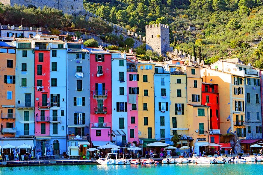 Colorful buildings of Porto Venere Italy