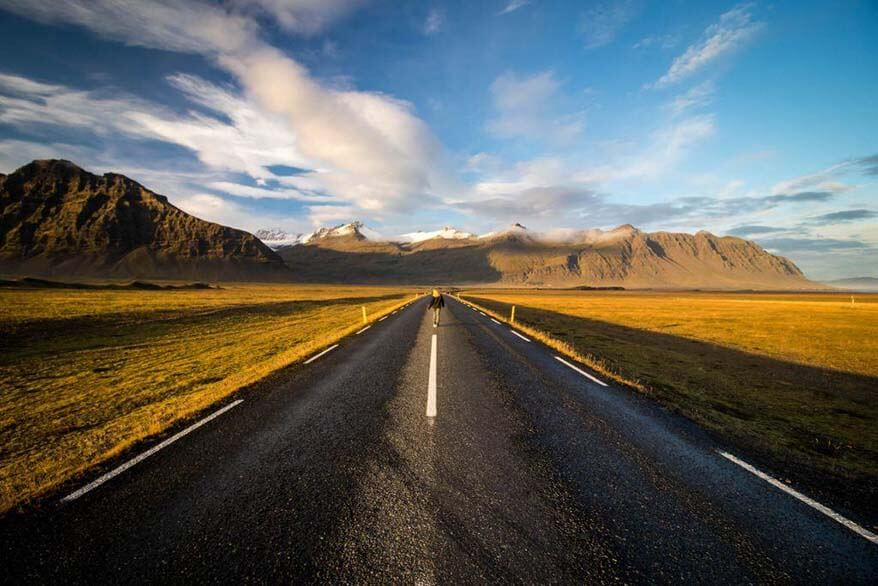 Driving Iceland Ring Road by campervan end of October