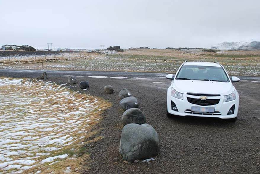 Driving along the Iceland South Coast in April