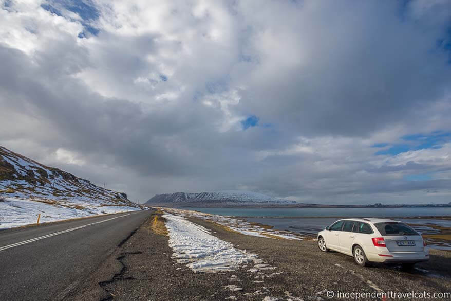 Driving in Iceland in March