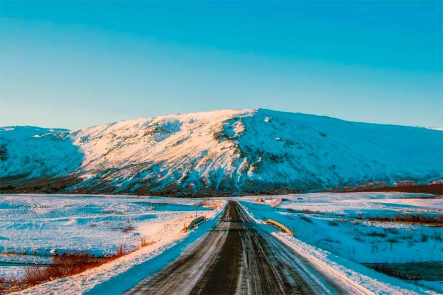 Driving the South Coast of Iceland in winter
