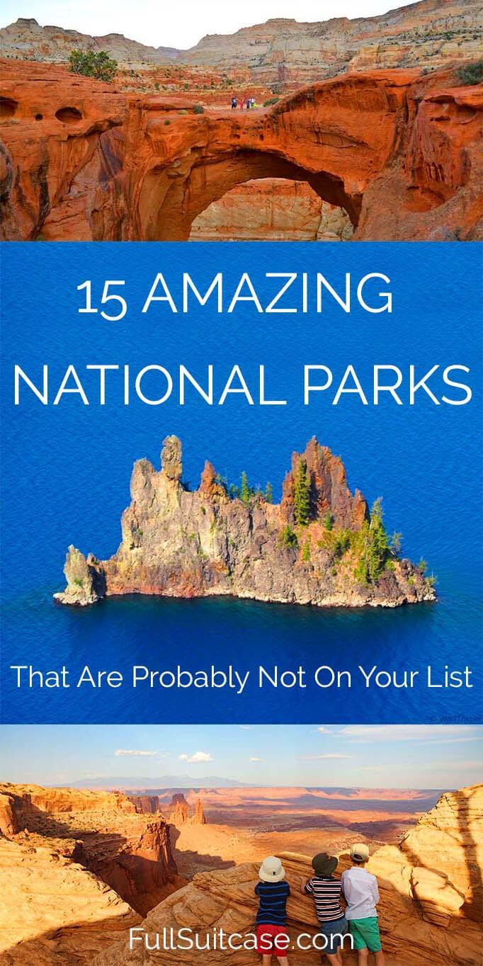 Hidden gems of American National Park Service - family travelers favorites