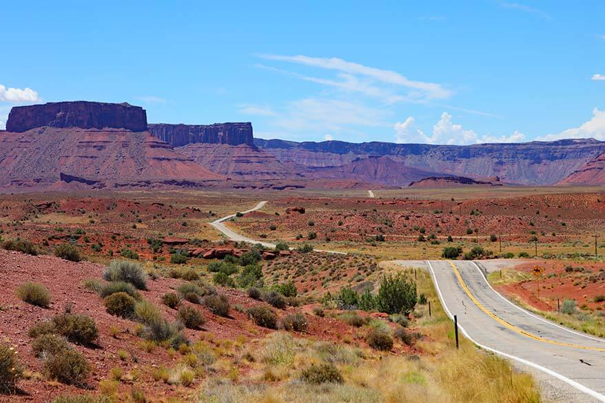 Most scenic byway of Utah - State Route 128