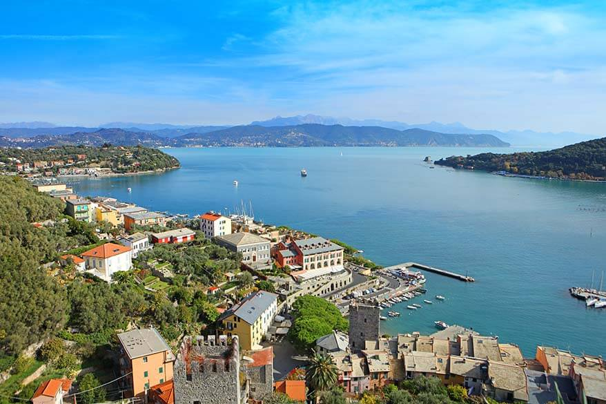 View over the Gulf of the Poets from Doria castle in Portovenere