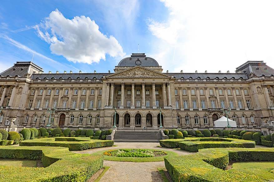 Royal Palace in Brussels Belgium