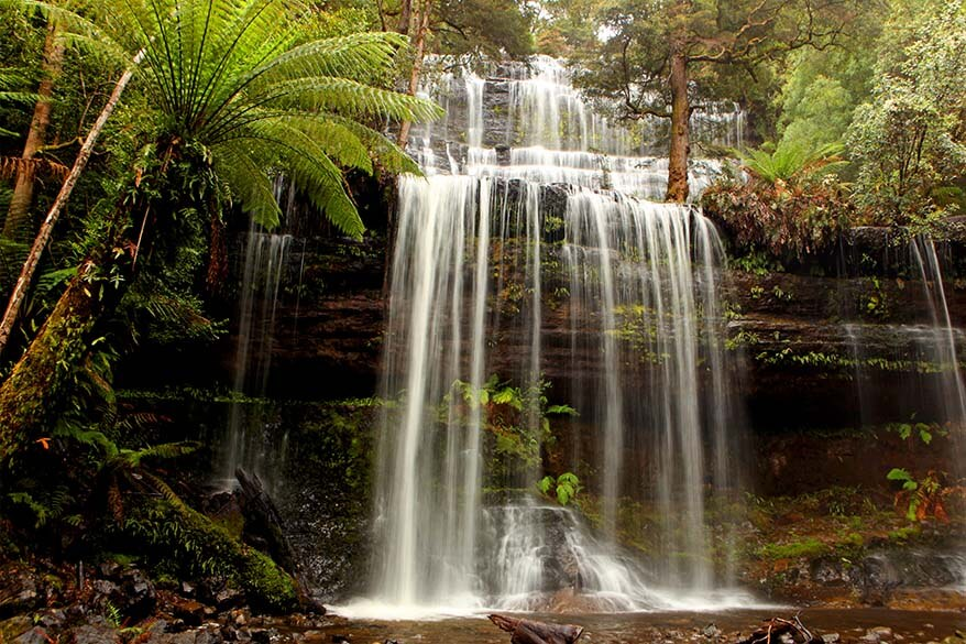 Russell Falls at Mt Field National Park in Tasmania