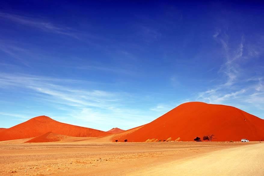 Sossusvlei scenic road in Namibia