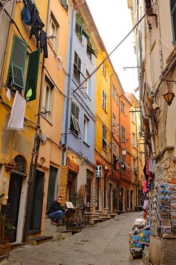 Via Capellini in Portovenere Italy