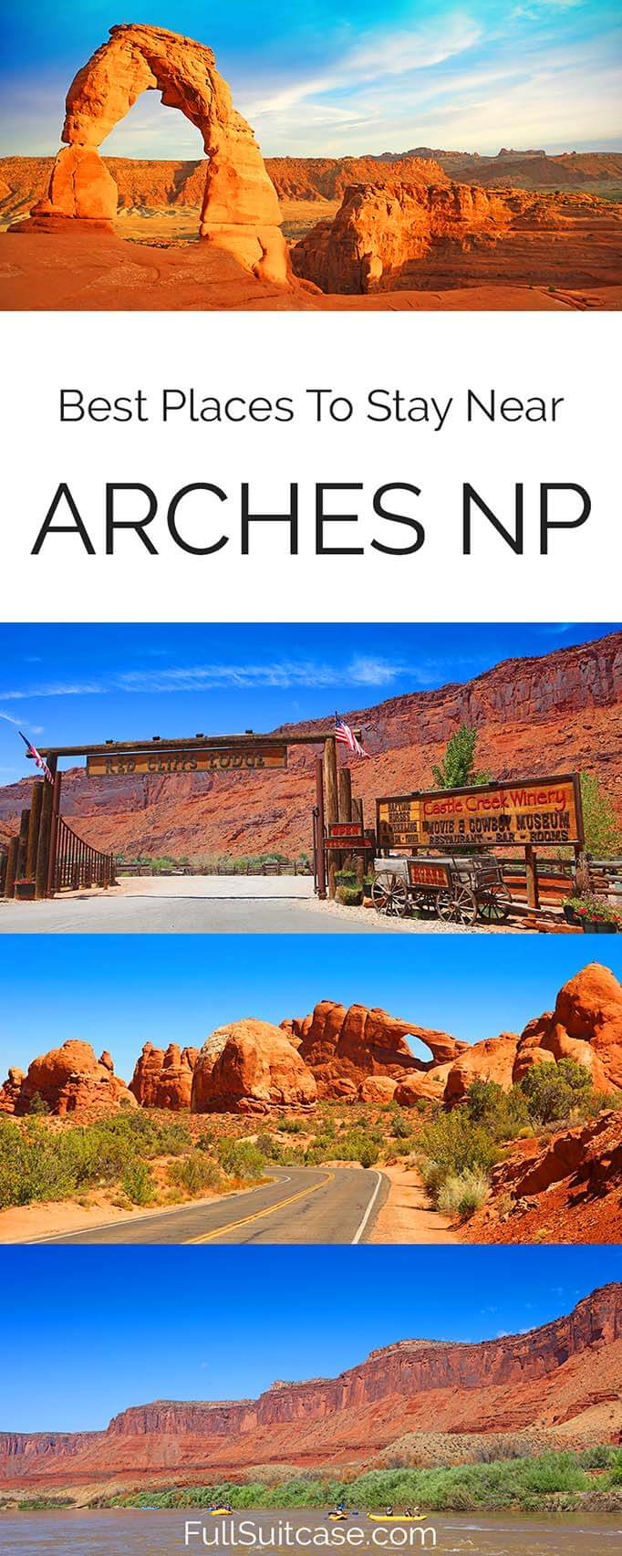 Best Moab hotels and accommodation near Arches National Park in Utah USA