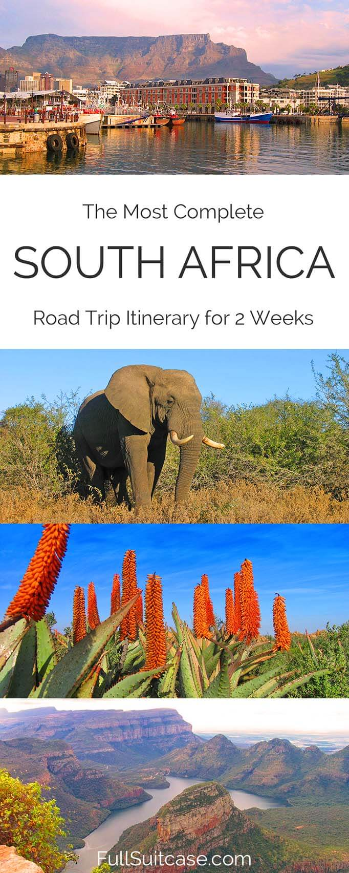 Complete South Africa road trip itinerary. See the best of South Africa in 15 days