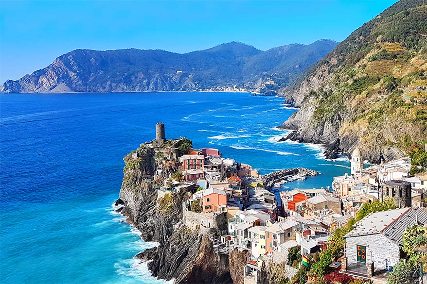 Hiking Cinque Terre Trail at Vernazza