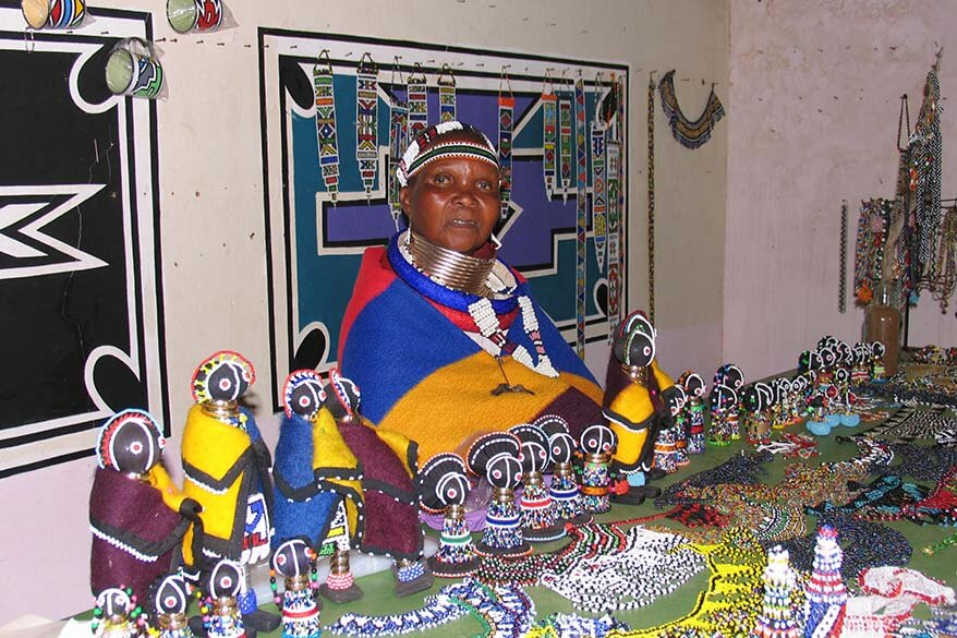 Ndbele tribe cultural village in Botshabelo South Africa