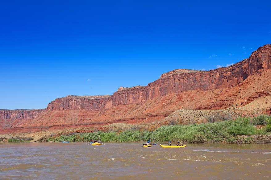 Rafting on Colorado River is a must when visiting Moab in summer