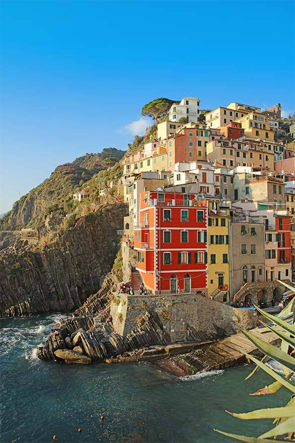 Riomaggiore is one of the most colorful towns of Cinque Terre #Italy