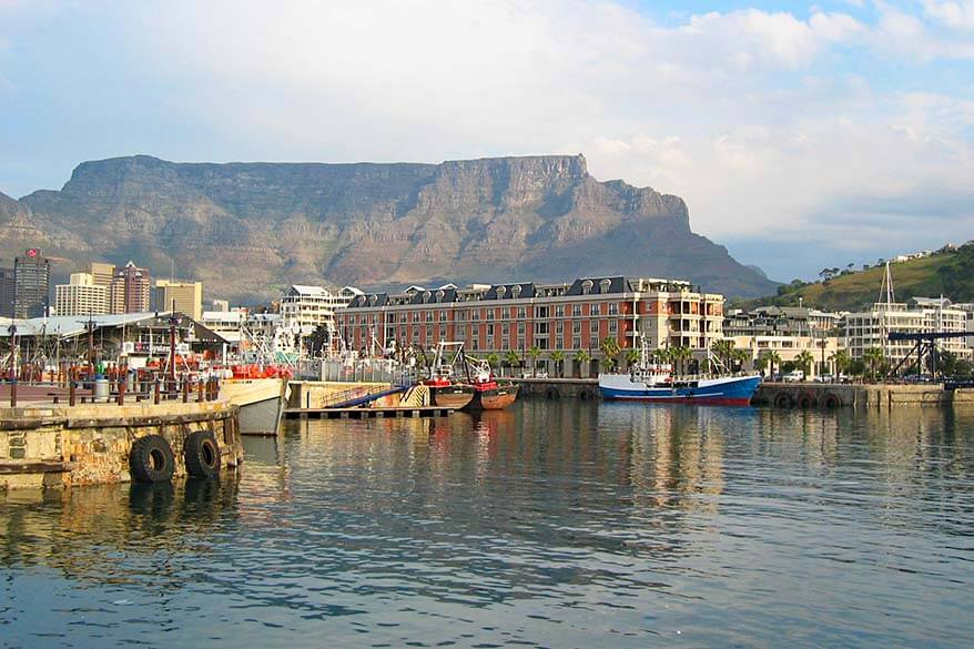 Table Mountain as seen from Victoria and Alfred waterfront