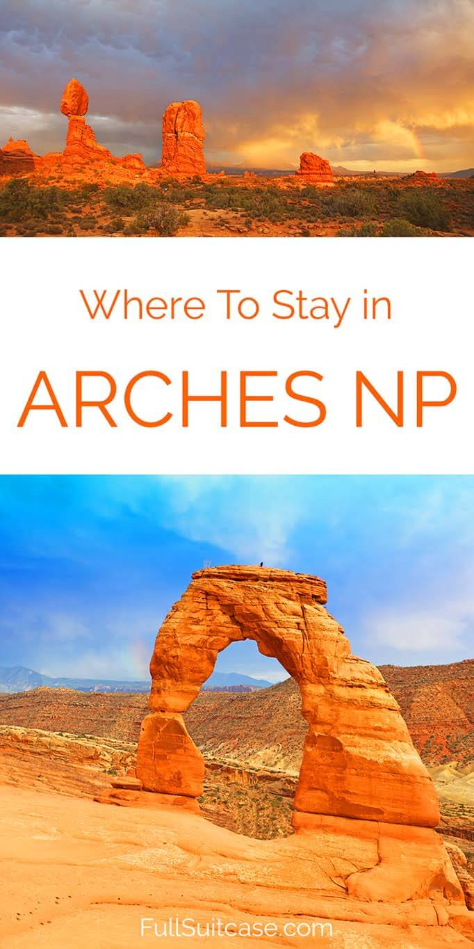 Where to stay for visiting Arches and Canyonlands National Parks in Utah USA