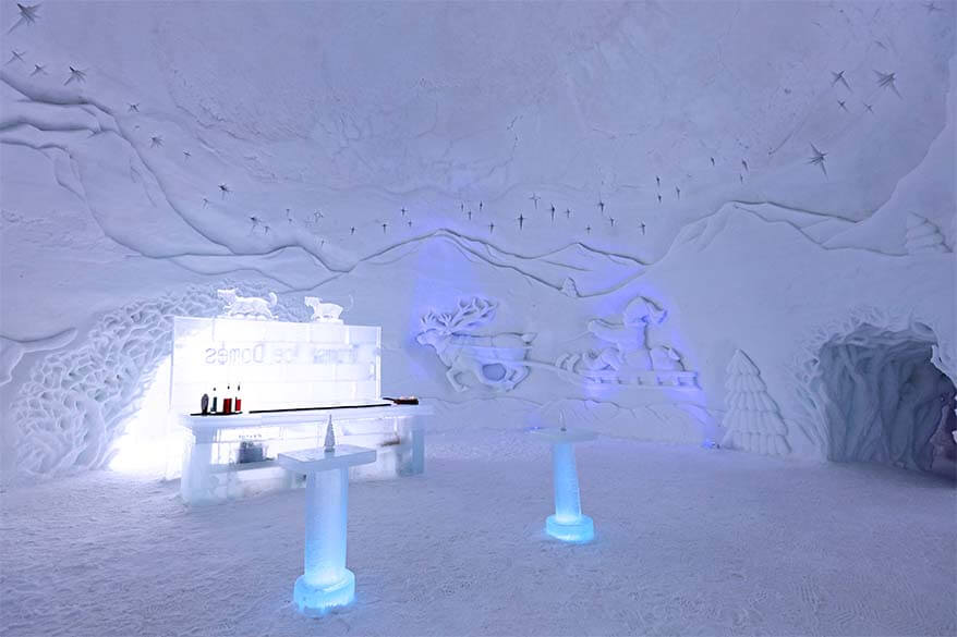 Ice bar at the Tromso Ice Hotel in Northern Norway