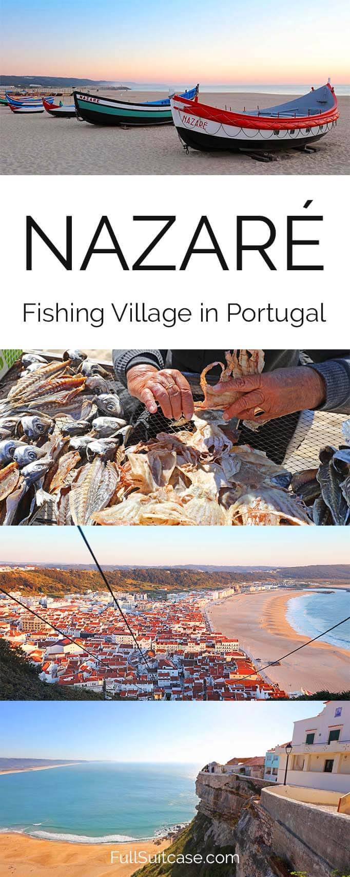 Nazare fishing village is not to be missed when traveling to Central Portugal