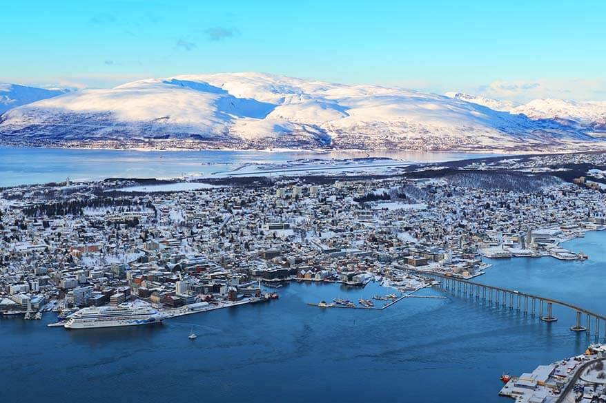 View over Tromso from Fjellheisen cable car