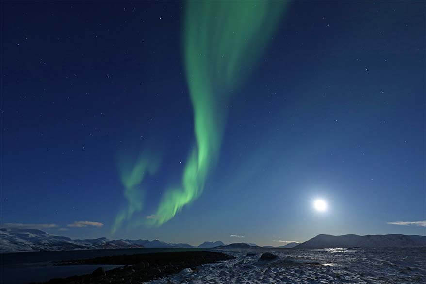 Watching the Northern Lights in Tromso Norway