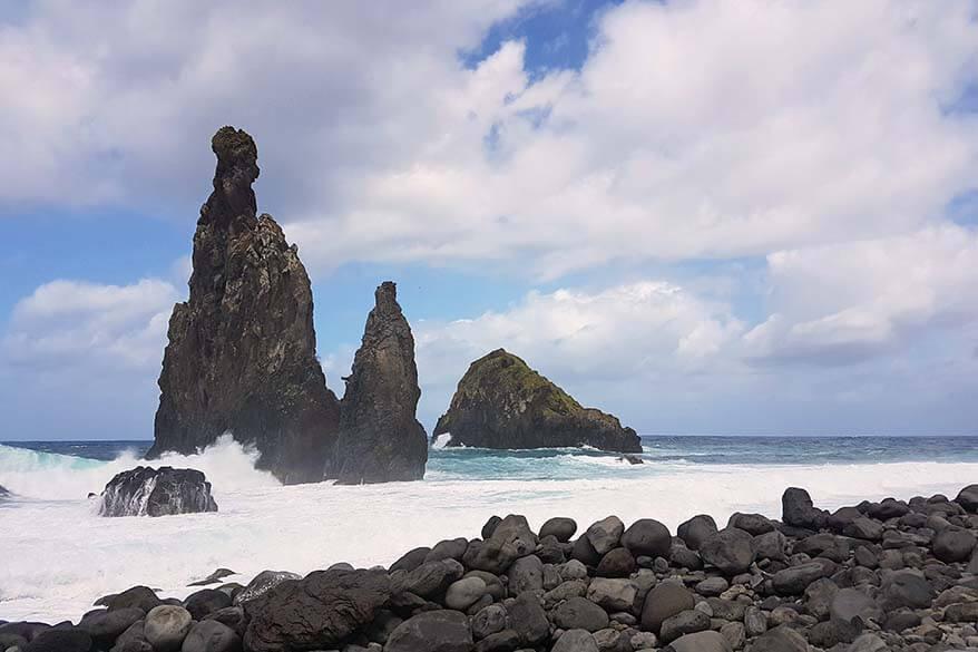 Beach at Illheus da Janela in Madeira