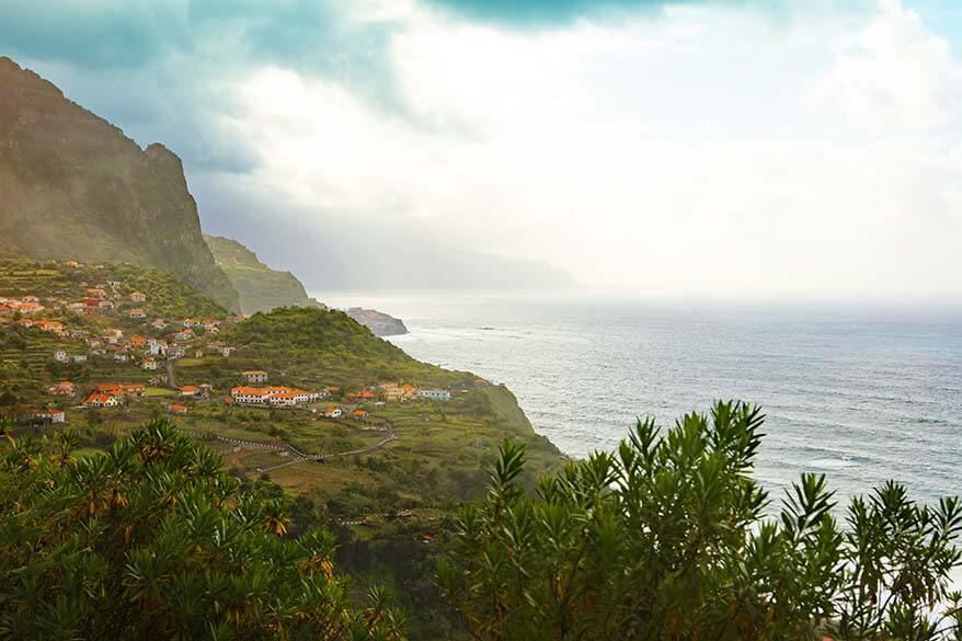 Scenic drive on the North coast of Madeira
