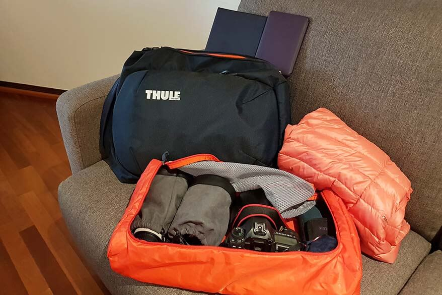 Thule travel backpack is my favourite carry-on backpack of all times