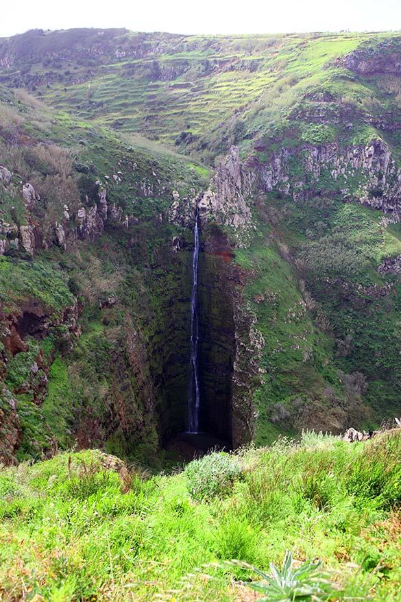 Waterfall at Miradouro Garganta Funda in Madeira