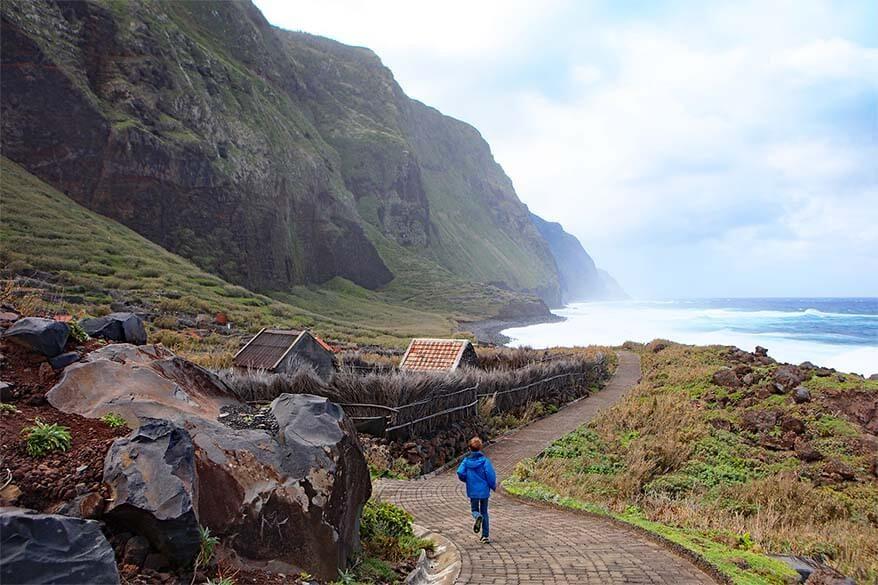 Achadas da Cruz cable car brings you to an isolated coastal area in Northern Madeira