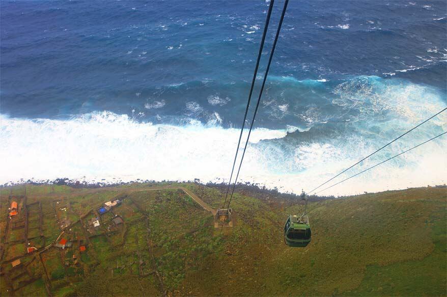 Achadas da Cruz cable car in Madeira