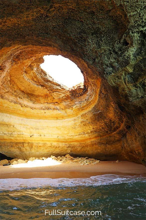Benagil Caves in Algarve Portugal