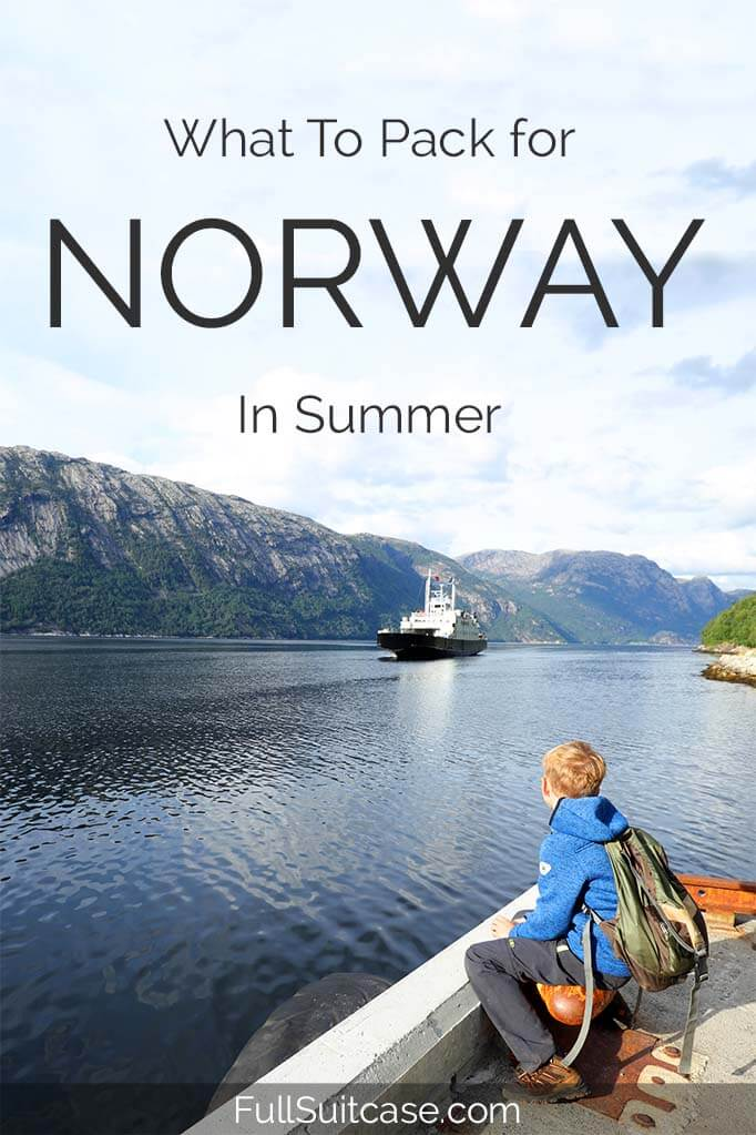 Complete packing list for an active summer trip to Norway