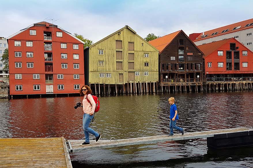 Exploring Trondheim in Norway in summer