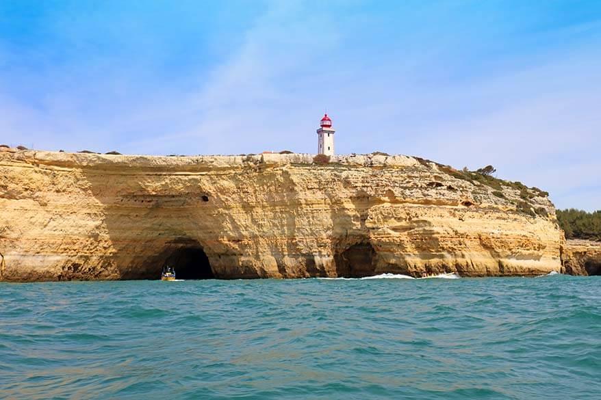 Farol de Alfanzina - Alfanzina lighthouse near Cabo Carvoeiro in Algarve Portugal