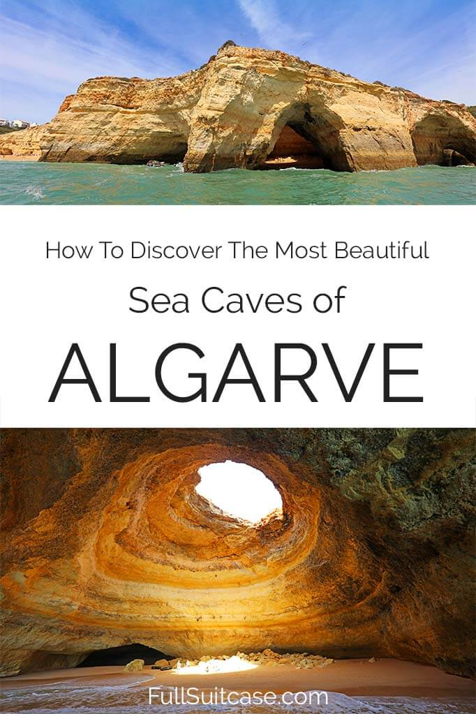 How to see the best sea caves of Algarve Portugal including the famous Benagil cave
