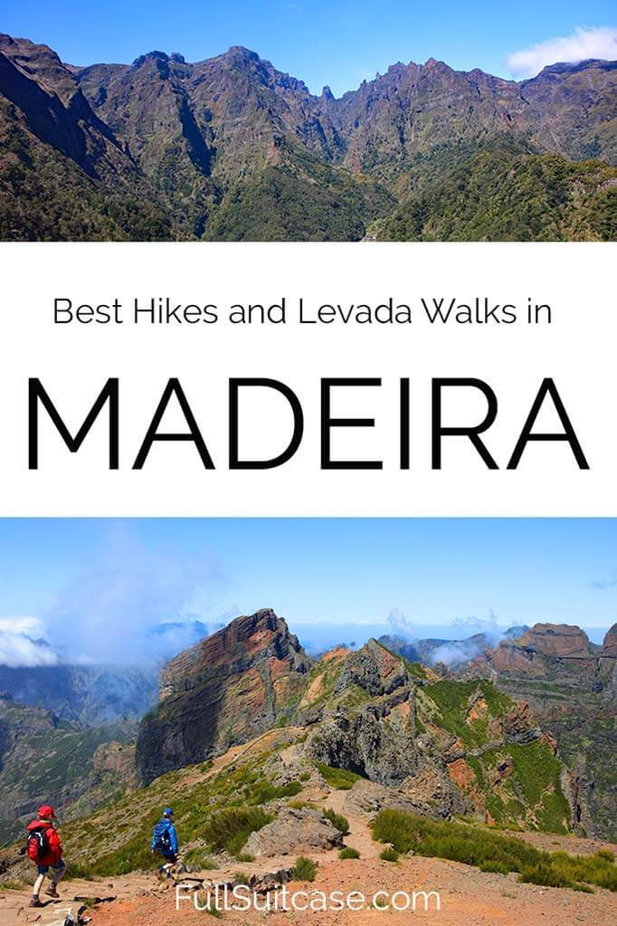 Most beautiful hiking trails and levada walks on Madeira island in Portugal