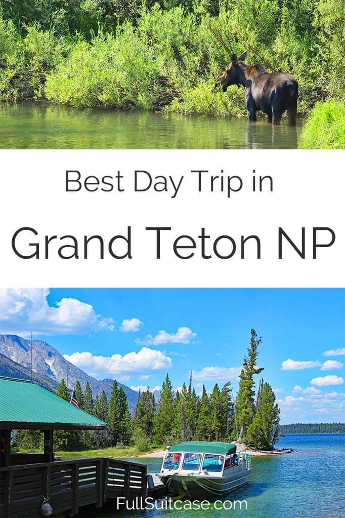 Best day trip in Grand Teton National Park, WY - Jenny Lake and hiking to Hidden Falls and Inspiration Point