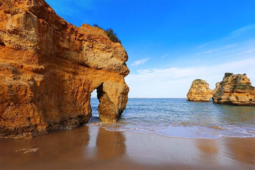 Camilo beach is one of the most picturesque beaches of Algarve coast in Portugal