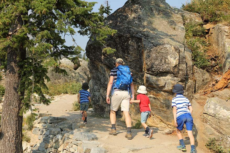 Hidden Falls and Inspiration Point hike with kids - Grand Teton National Park, WY