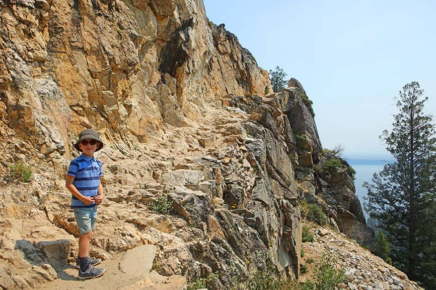 Hiking to Inspiration Point in Grand Teton with kids