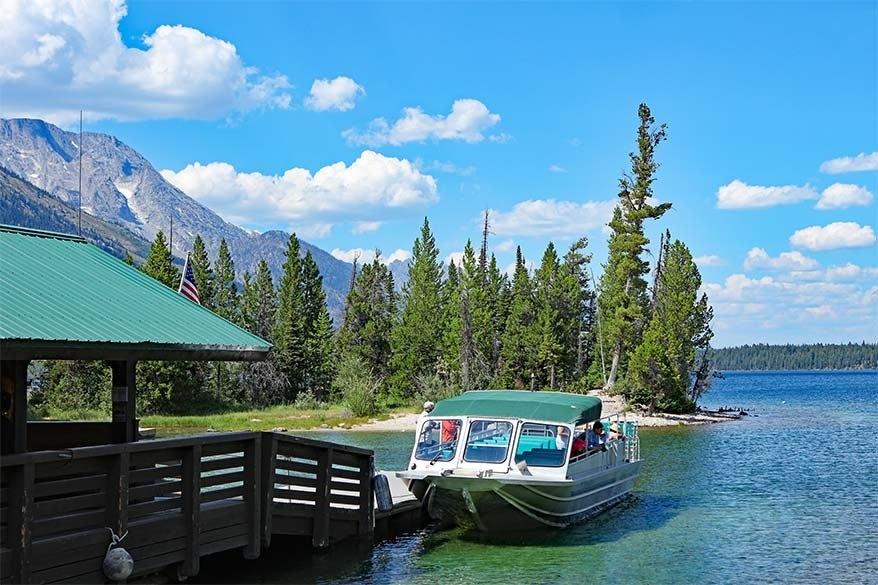 Jenny Lake shuttle boat in Grand Tetons