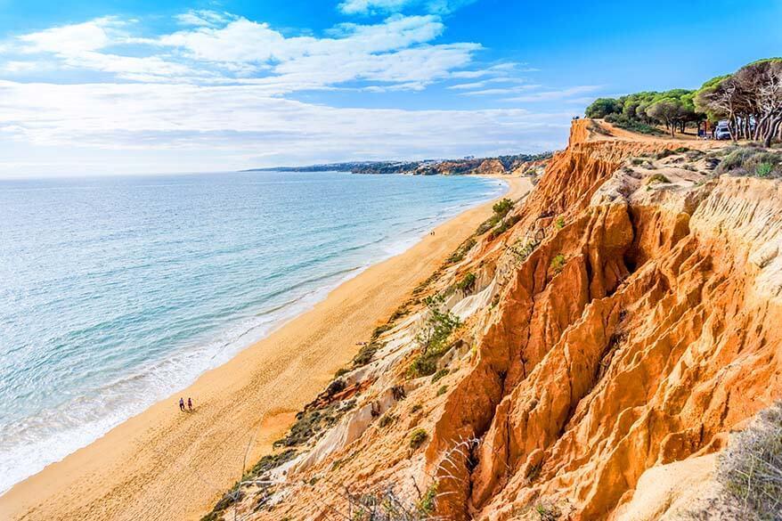 Praia da Falesia is one of the most beautiful beaches of Algarve Portugal