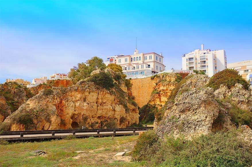 Praia da Rocha beach in Portimao Algarve