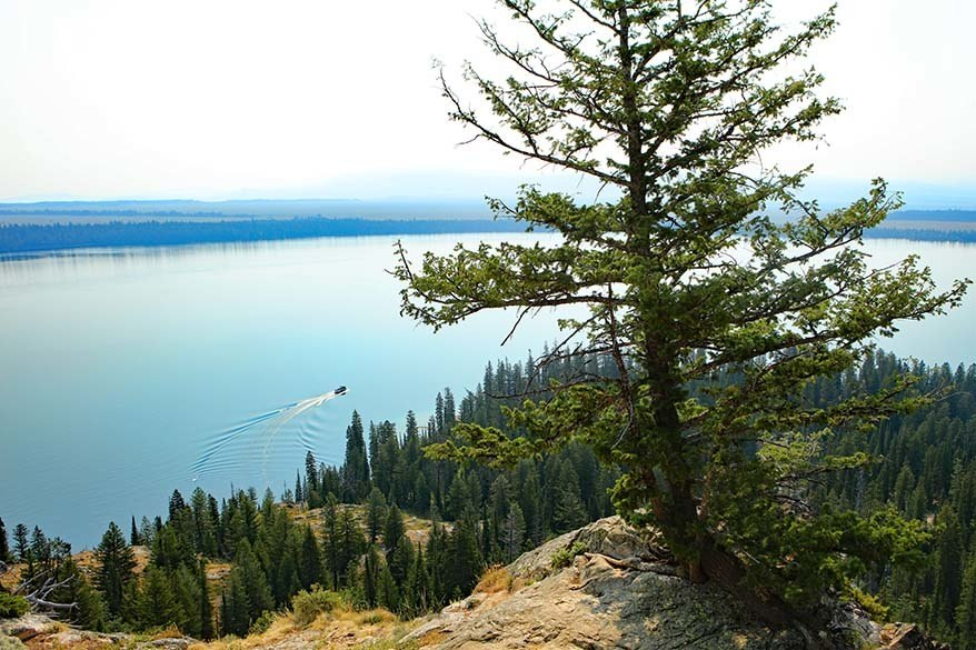 View from Inspiration Point in Grand Teton National Park