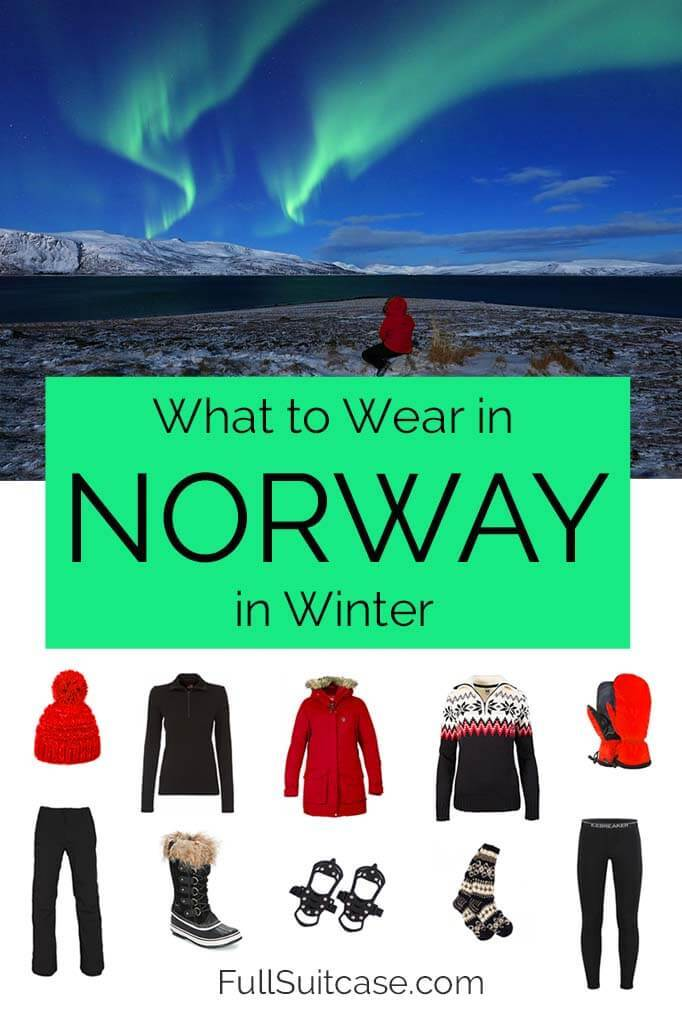What to wear in Norway in winter. Packing list for a trip filled with outdoor winter activities