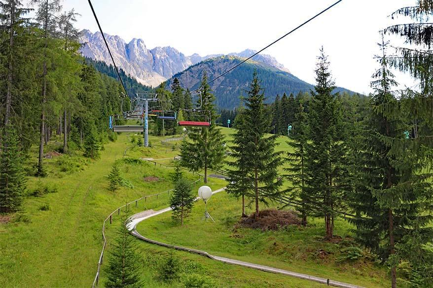 Alpine coaster in Biberwier in Tyrol