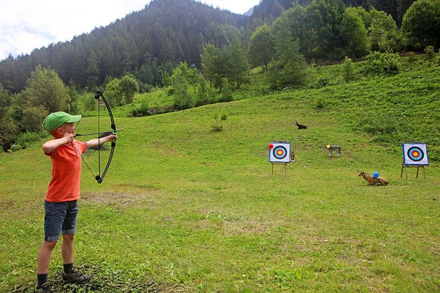 Archery was one of our kids favourite activities in Austrian Tirol in summer