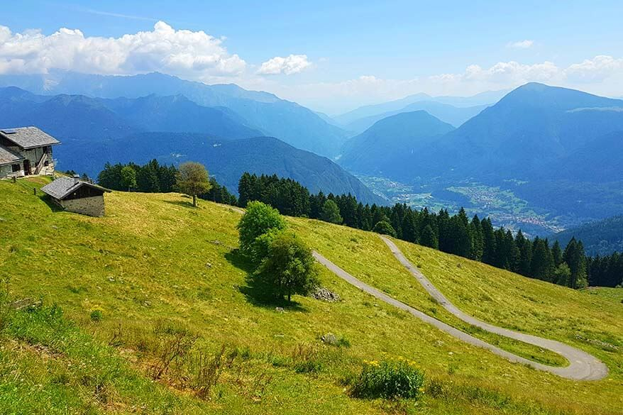 Beautiful scenery of Trentino mountains in summer